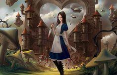 McGee's) / Alice Madness Returns / Alice Liddell / Alice in Wonderland Alice Sweet Alice, Bloodborne Art, Chesire Cat, Hd Cool Wallpapers, Alice Liddell, Alice Madness Returns, Black Picture, Were All Mad Here, Goth Art