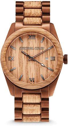 ed72d8f4e5f Amazon.com  New Original Grain Wood Wrist Watch