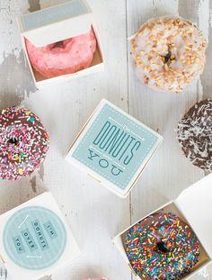 """Donuts Over You"" Printable Valentine | AllFreeHolidayCrafts.com"