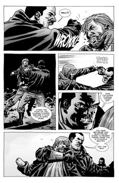 comic images of the walking dead Negan and Rick
