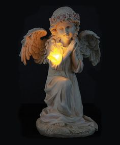 Great Solar Angel U0026 Bird Statue #zulilyfinds