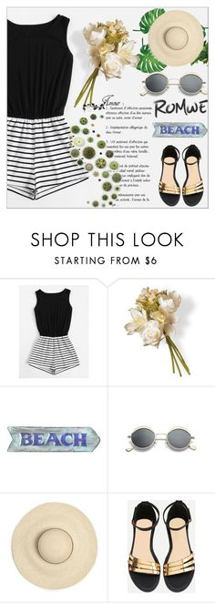 """Striped Romwe"" by emina-095 ❤ liked on Polyvore featuring National Tree Company"
