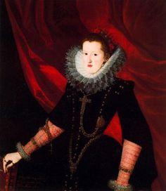 Pantoja de la Cruz, Juan - Dona Margarita de Austria - Renaissance (Late, Mannerism) - Oil on canvas - Portrait - Museo del Prado - Madrid, ...Spanish Renaissance