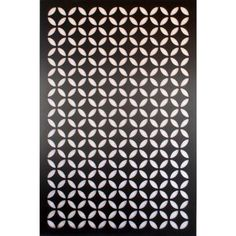 1/4 In. X 32 In. X 4 Ft. Black Moorish Circle Vinyl Decor Panel