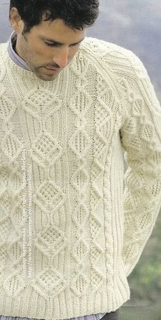 Knitwear Fashion, Knit Fashion, Mens Fashion, Cable Knitting Patterns, Knitting Designs, Outfits Casual, Mode Outfits, Gents Sweater, Country Attire