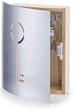 Zeller 13845 Armoire à clés en Hetre/Inox, 21,5 x 5,5 x 24,5 cm: Amazon.fr: Cuisine & Maison