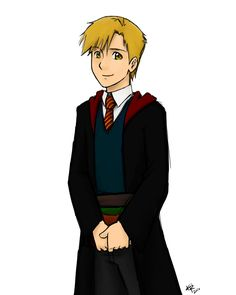 Al in Gryffindor  by ~kra on DeviantART Do I put this in my Harry Potter board or my fma board?!
