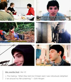 I'm picturing this in my head and I'm cracking up. << THIS IS WHY WE LOVE COLIN MORGAN (besides him being beautiful ;)