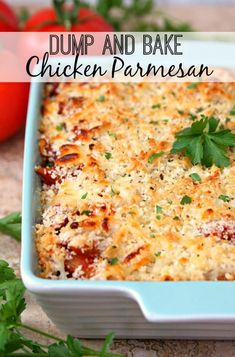 Dump and Bake Chicken Parmesan - Food Recipes - Home Living - Decor Interior - K. Dump and Bake Chicken Parmesan – Food Recipes – Home Living – Decor Interior – Kitchen Set Chicken Parmesan Recipes, Chicken Parmesan Casserole, Chicken Bake Recipes Easy, Casseroles With Chicken, Dump Casseroles, Cooked Chicken Recipes Leftovers, Easy Casserole Recipes, Grilled Chicken Parmesan, Healthy Chicken Casserole