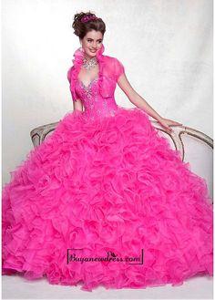 Alluring Organza Sweetheart Neckline Floor-length Ball Gown Prom Dress