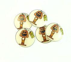 5 Primitive Jacko'lantern Buttons.  by buttonsbyrobin on Etsy, $9.99