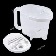 Creative Hand-free Convenient Convection-like Plastic Clean Rice Machine Rice Washing Machine Kitchen Tool Kit HKI-148639