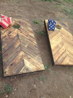 Rustic Corn Hole Boards made from Reclaimed Wood