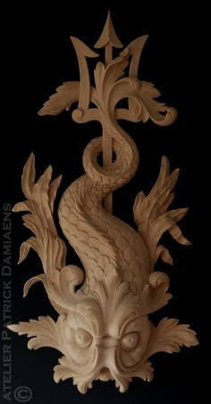 Bespoke wood carving | Custom made architectural wood carving | Patrick Damiaens | http://www.patrickdamiaens.be | High end architectural wood carving