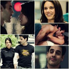 A close runner up to my favorite couples. Movie Couples, Cute Couples, Andy Mcnally, Ben Bass, Blue Tv Show, Pretty People, Beautiful People, Rookie Blue, Tim Roth
