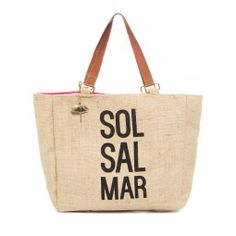BOLSA SOL SAL MAR - BEGE