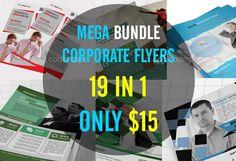 Mega Bundle Corporate Flyers 19 in 1 on @codegrape. More Info: http://www.codegrape.com/item/mega-bundle-corporate-flyers-19-in-1/9121