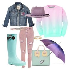 """""""Rain Rain, Go Away!!!"""" by joijfresh on Polyvore featuring River Island, Aloha From Deer, Hollister Co., Brixton, Moschino, Chanel, Sophie Hulme, Black, Sydney Evan and Aigle"""