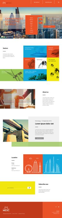 MESC website concept.