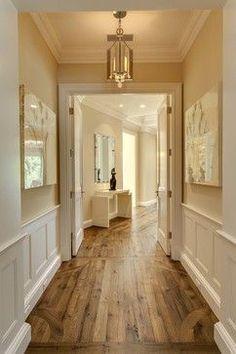 Love the cream walls white wood medium wood floors!