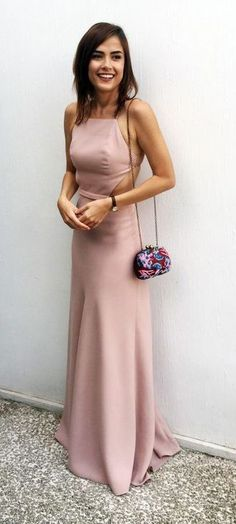 A-Line Pink Prom Dresses,High Fashion Sheath Halter Backless Long Prom Dress,Backless Satin Formal Dress,Prom Dresses TY65,#promdress#long#elegant#satin#eveningdress#backless#formaldress