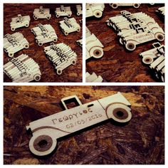 Wooden car for invitation