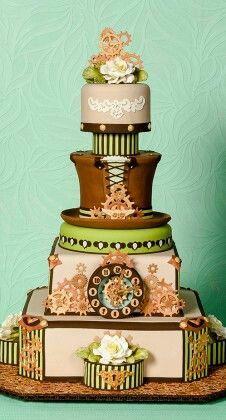 Steampunk cake ~ whatever floats your boat. ᘡηᘠ