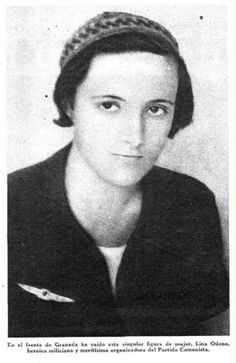 Spain - 1936-39. - GC - Lina Odena - miliciana