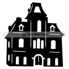 Haunted house silhouette cut file