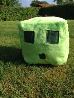 DIY minecraft slime plush instructions