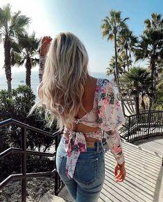 Vintage Floral Print Satin Lace-up Top Hippie Dresses, Boho Dress, Hippie Style, Bohemian Style, Boho Girl, Fabulous Dresses, Western Dresses, Boho Tops, Fall Dresses