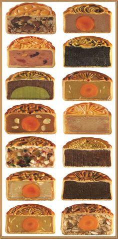 Mooncakes for dayyyssss Cake Festival, Food Festival, Chinese Moon Cake, Mooncake Recipe, Asian Cake, Cake Packaging, Bread Cake, Asian Desserts, Japanese Sweets