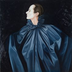 made by: Ans Markus , 'Hommages aan Couturiers' - Oil Painting