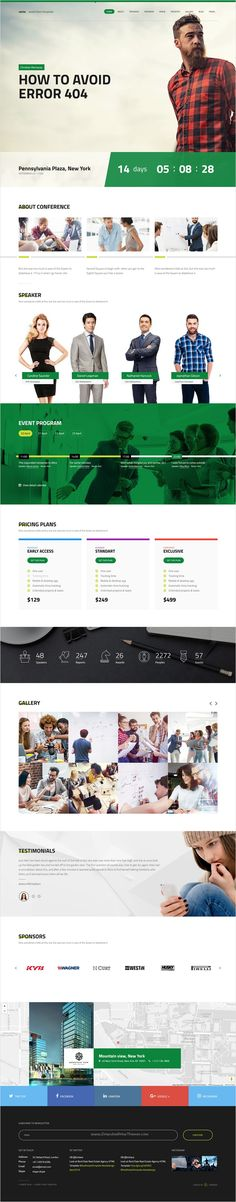 Venta - Event \/ Conference HTML Template Modern, Conference - conference schedule template