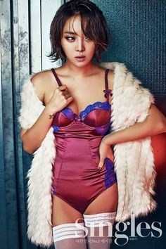 Narsha models lingerie and pearls for 'Singles' South Korean Girls, Korean Girl Groups, Ga In, Brown Eyed Girls, Korean Artist, Lingerie Models, Girl Costumes, Brown Eyes, Pop Fashion