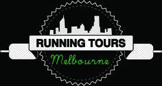 Running Tours Melbourne brand logo from May 2015...features everything we wanted, the city skyline, some reference to running in the shoe lace, and a slightly vintage look...