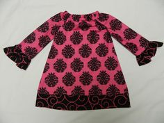 Hot pink and black ruffle dress by tutus2trains on Etsy, $20.00