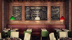 Italian restaurant design for hotel