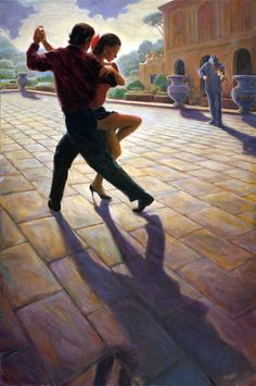 Художник-самоучка из Сан-Франциско Mark Keller Shall We Dance, Lets Dance, Mark Keller, Tango Art, Save The Last Dance, Tango Dancers, Dance Paintings, Partner Dance, Pose