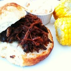 Shredded Beef with Cherry BBQ Sauce by MrsEllwood