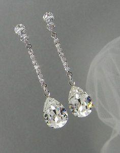 Crystal Bridal earrings Wedding jewelry by CrystalAvenues on Etsy, $46.00