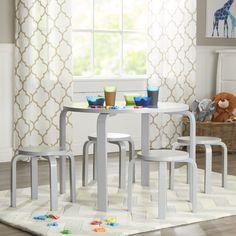 Viv + Rae Anrey Kidsu0027 5 Piece Round Table And Stool Set