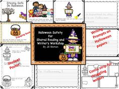Teach Halloween safety during your literacy block!  Reading and writing activities for K-2