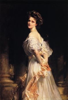 Nancy Astor  - John Singer Sargent a favorite for sure! Having seen his work for real, took my breath away!