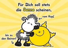 Für dich soll stets die Sonne scheinen | sheepworld | Echte Postkarten online…