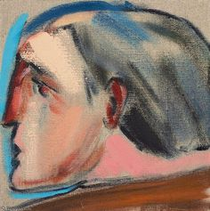 """R.B. Kitaj, """"He"""" oil on canvas 12 x 12in. (30.5 x 30.5cm.) Painted in 2005"""