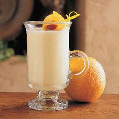 Frosty Orange Smoothie {like an Orange Julius?} ~ 6 oz frozen orange juice concentrate {thawed}, 1 cup milk, 1 cup water, 1/4 cup sugar, 1 tsp vanilla extract, 10-12 ice cubes ~*~ In a blender, combine all ingredients except the ice. Cover & blend until smooth. With blender running, add ice cubes, one at a time, through the opening in lid. Blend until smooth. Serve immediately. Yield: 4-5 servings.