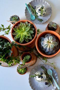 Urban Jungle Bloggers: Planty Table Setting by @goodiys
