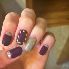 Cute half moon with glitter!