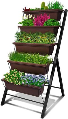 100 Cheap and Easy DIY Backyard Ideas - Prudent Penny Pincher Elevated Planter Box, Vertical Garden Planters, Garden Planter Boxes, Diy Planters, Rustic Planters, Greenhouse Gardening, Container Gardening, Backyard Landscaping, Backyard Ideas